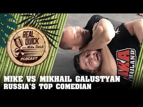 Mike Swick Spars Russia's Most Famous Comedian, Mikhail Galustyan! михаил галустян - AKA Thailand