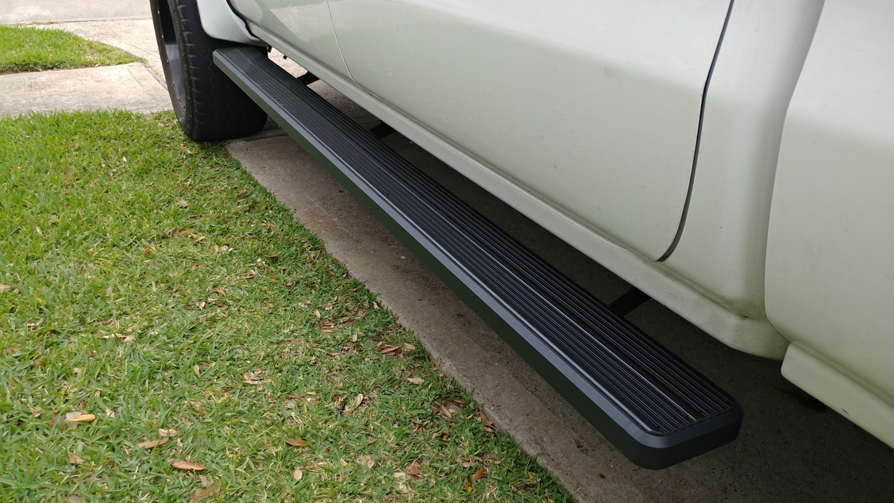 Iboard Running Boards For 2014 Silverado Crew Cab Youtube