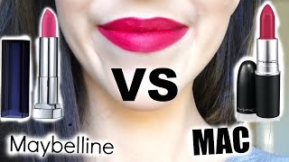 Cheap Dupe for High End Makeup | Wear Test | MAC Lipstick Dupe