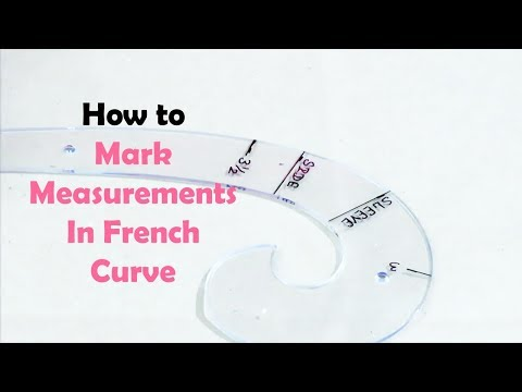 How To Mark Measurements In French Curve - SEWING