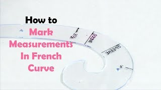 TAILORING - DEMO Video 1 - How To Mark Measurements in French Curve