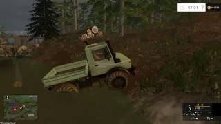 "[""Unimog"", ""FS 2015"", ""Farming Simulator"", ""Farming Simulator 2015"", ""Forestry"", ""Logging"", ""Pulling"", ""Logs"", ""Winch"", ""100%"", ""working"", ""river"", ""wood"", ""mud"", ""hard"", ""forest"", ""muding"", ""Terre'd auvergne""]"
