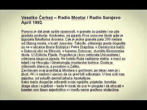 Radio Mostar/Radio Sarajevo - april 1992 - Veselko Cerkez