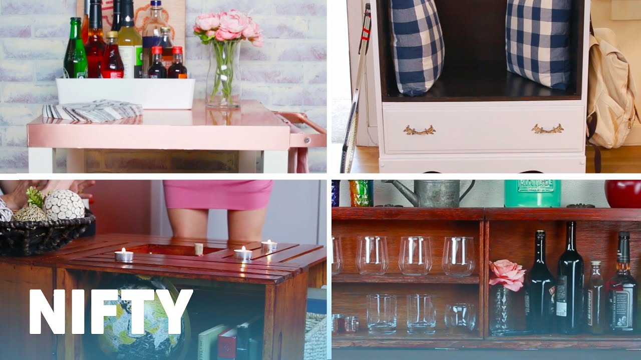 6 budget friendly furniture upcycling projects youtube for Budget friendly furniture