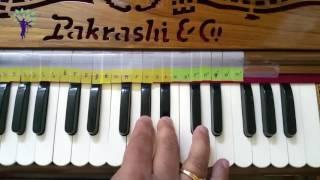 Harmonium Tutorials on Vaishnav Bhajans Pa6 Hare Krishna Raag Bhairav Mishra Bhairav Morning