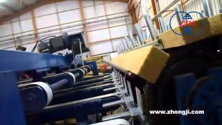 sp 9 transsport system for rock wool sandwich panel machine