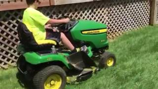 My sons first time cutting the grass