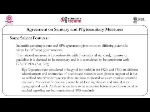 Agreement of sanitary and phytosanitary measures (Law)