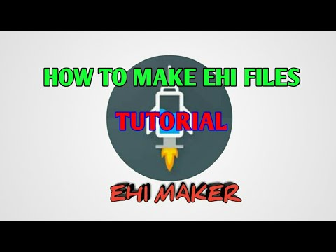 HOW TO MAKE EHI FILES