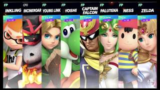 Super Smash Bros Ultimate Amiibo Fights   Request #1458 8 Player Brawl at Yoshi's Island