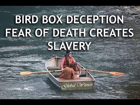 BIRD BOX DECEPTION - FEAR OF DEATH CAUSES SLAVERY