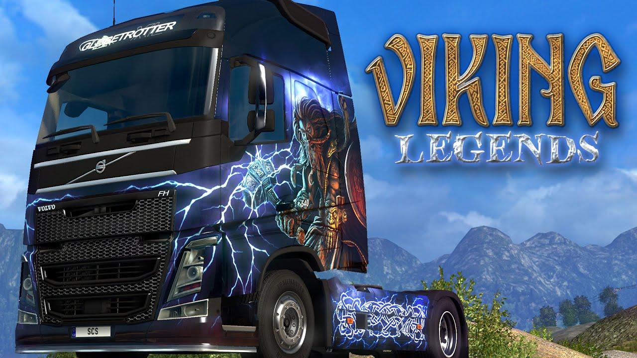 ETS2 Viking Legends Paintjobs DLC Trailer - YouTube