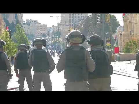 Violence between Palestinians and Israeli armed forces in Bethlehem