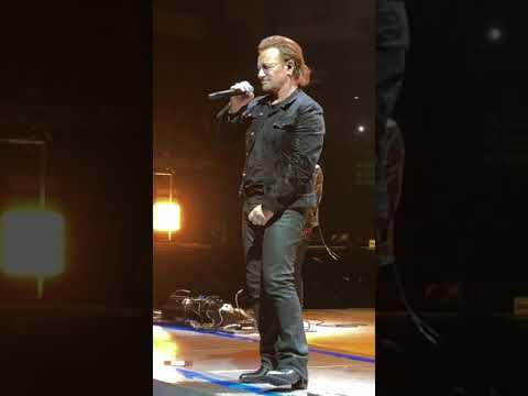 U2 Berlin 20180901 Bono says sorry!! He can not sing!!