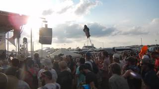Andy Frasco crowd surfing at Summer Camp Music Festival 2016 in Chillicothe, IL