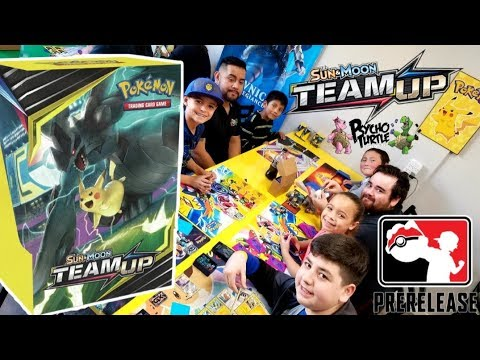 NEW POKEMON CARDS TEAM UP PRERELEASE LAUNCH PARTY AT PSYCHO TURTLE! OPENING A BUILD & BATTLE BOX