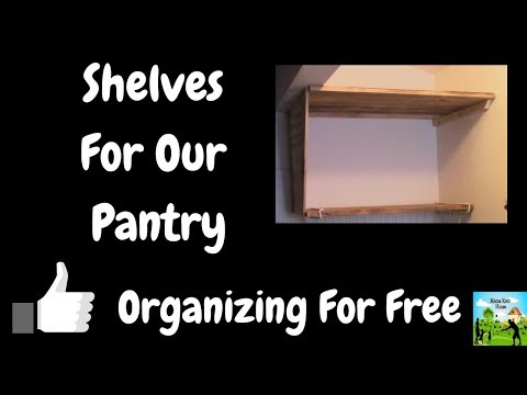 Free Shelves for The Pantry ( Pretty Much Free Anyway)