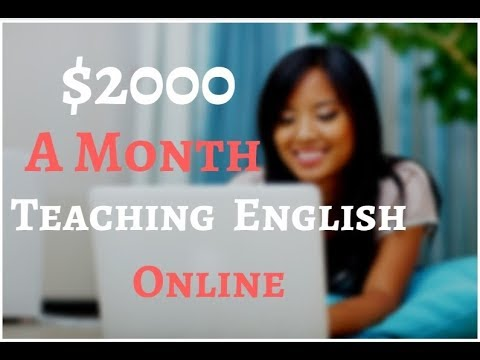 Now Hiring! Work Part Time Teaching English Online. Make $2000 A Month!