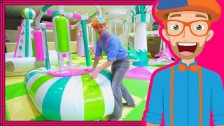Learning Colors with Blippi at an Indoor Playground Play Place thumbnail