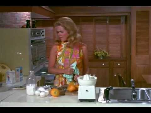 Bewitched Time Lapse Clip: Samantha Cleaning the Kitchen