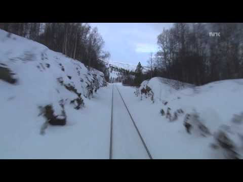Cab  Ride on Nordland line railway winter 03.