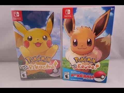Pokemon Lets Go Pikachu & Lets Go Eevee Poke Ball Plus Verson Unboxing