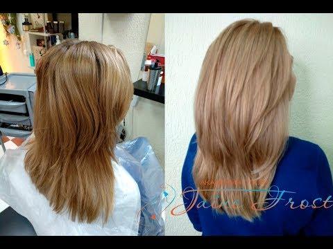 Окрашивание в сливочно- карамельный блонд
