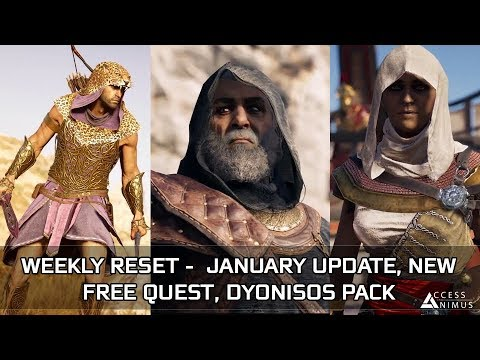 Assassin's Creed Odyssey - January Week 2 Reset - January Update, New Free Quest, Dionysos Pack thumbnail