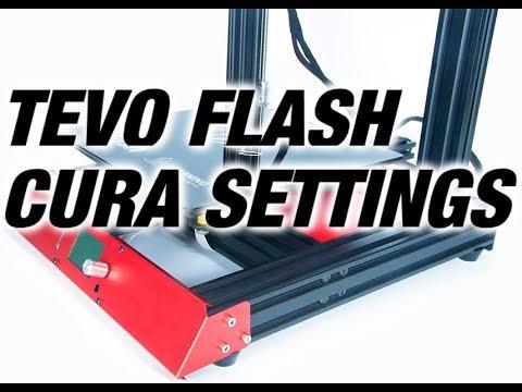 Tevo Flash Cura setup