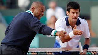 Tennis player fights with umpire Nick Kyrgios argues with the umpire Nick Kyrgios fights with umpire