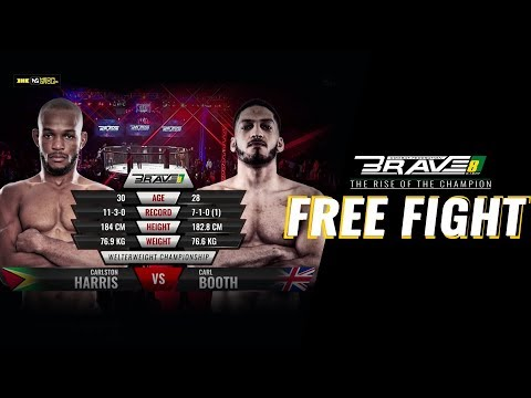 BRAVE 8 - The Rise of Champions Carlston Harris V/S Carl Booth WelterweightTitle Fight