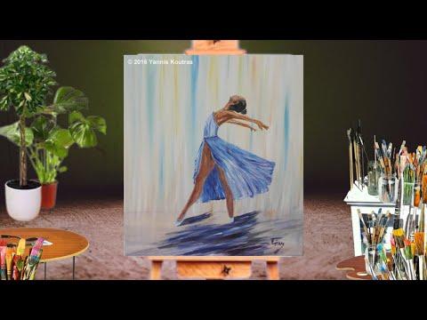 Ballerina Acrylic Painting On Canvas Youtube
