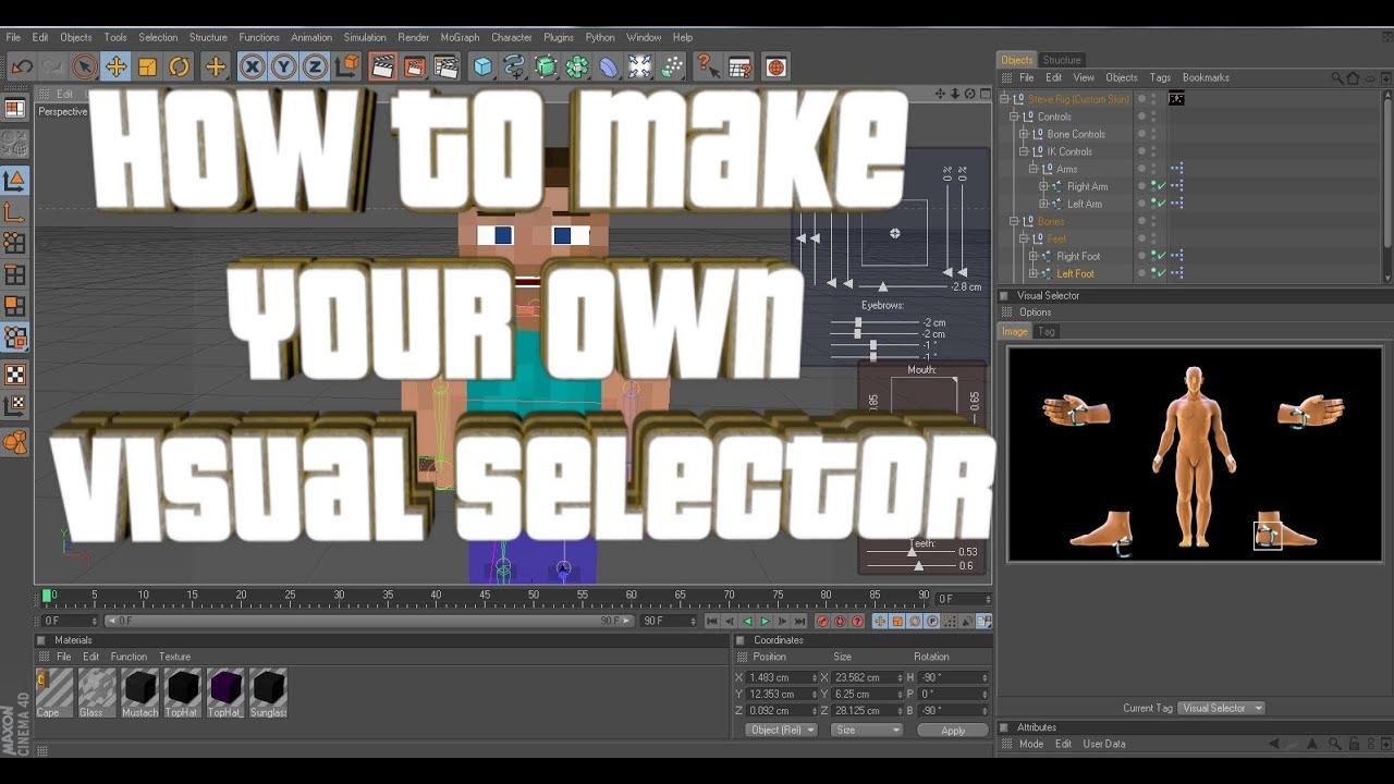 скачать плагин visual selector для cinema 4d