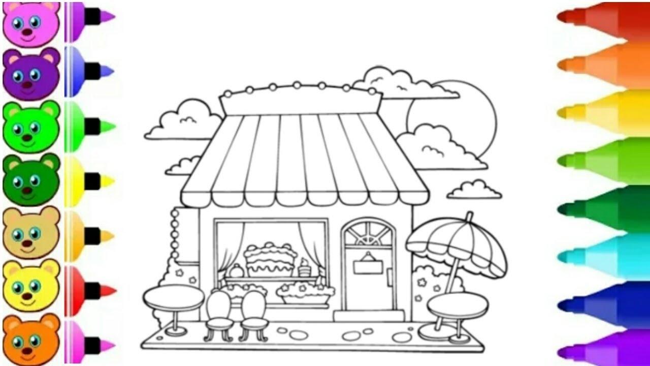 Menggambar Toko Kue Youtube