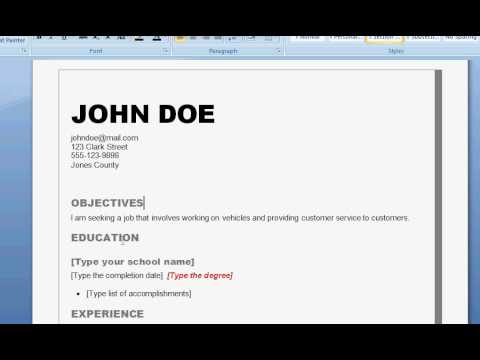 how to write a good resume - How To Create A Resume For A Job