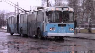 Троллейбус ЗИУ 620520 гармошка заезжает на конечку г Тольятти