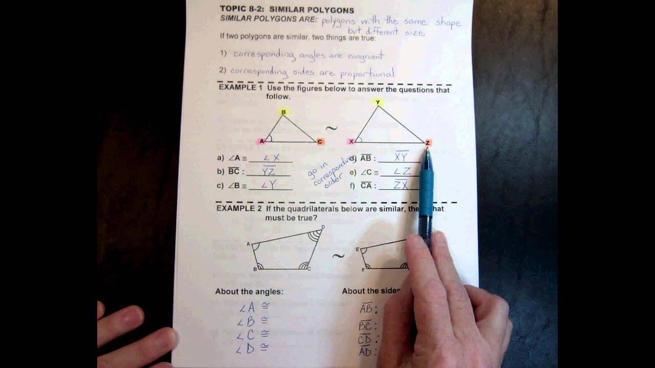 G1 TOPIC 82 Similar Polygons 707min YouTube – Similar Polygons Worksheet