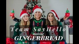 SayHello Language School/ Świąteczne pierniki / Święta 2017 / Team SayHello making gingerbread