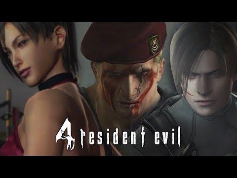 Resident Evil 4 (Switch) Leon & Ada Vs Krauser | All Jack Krauser Boss Battles