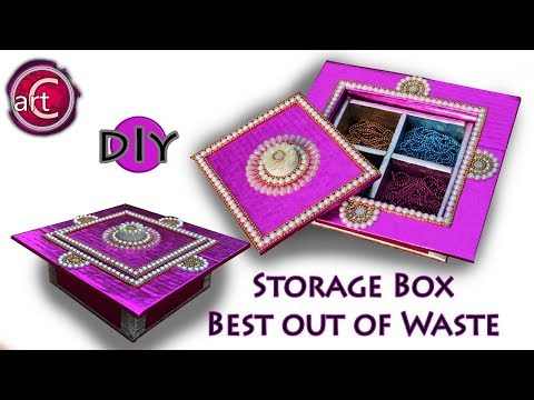 Multi Storage box   Gift box   DIY   Best out of waste   Art with Creativity 210