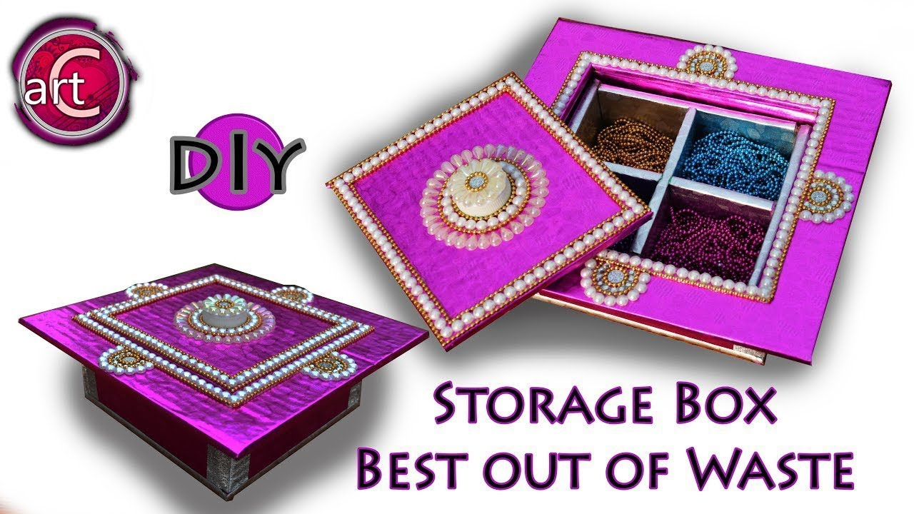 Multi storage box gift box diy best out of waste for Creativity out of waste