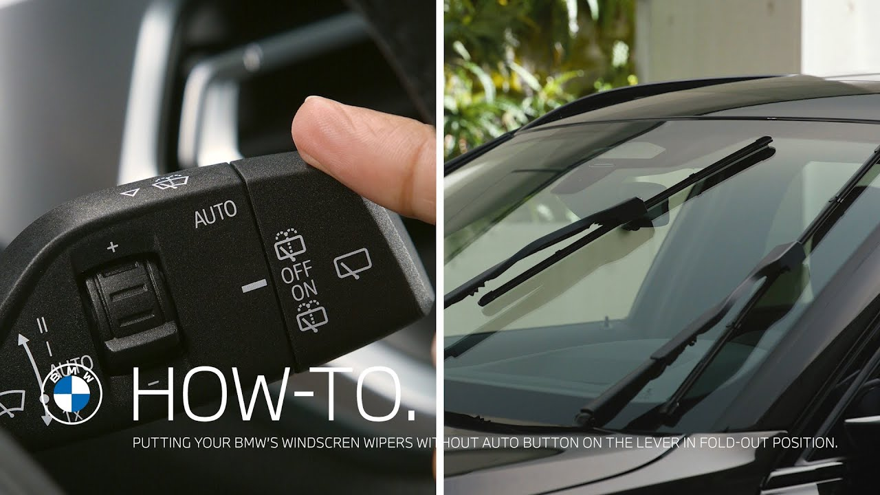 Putting the windscreen wipers without AUTO button on the lever in fold-out position – BMW How-To
