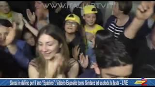 """Sanza in delirio per il suo """"Spadino"""": Vittorio Esposito torna Sindaco – LIVE"""