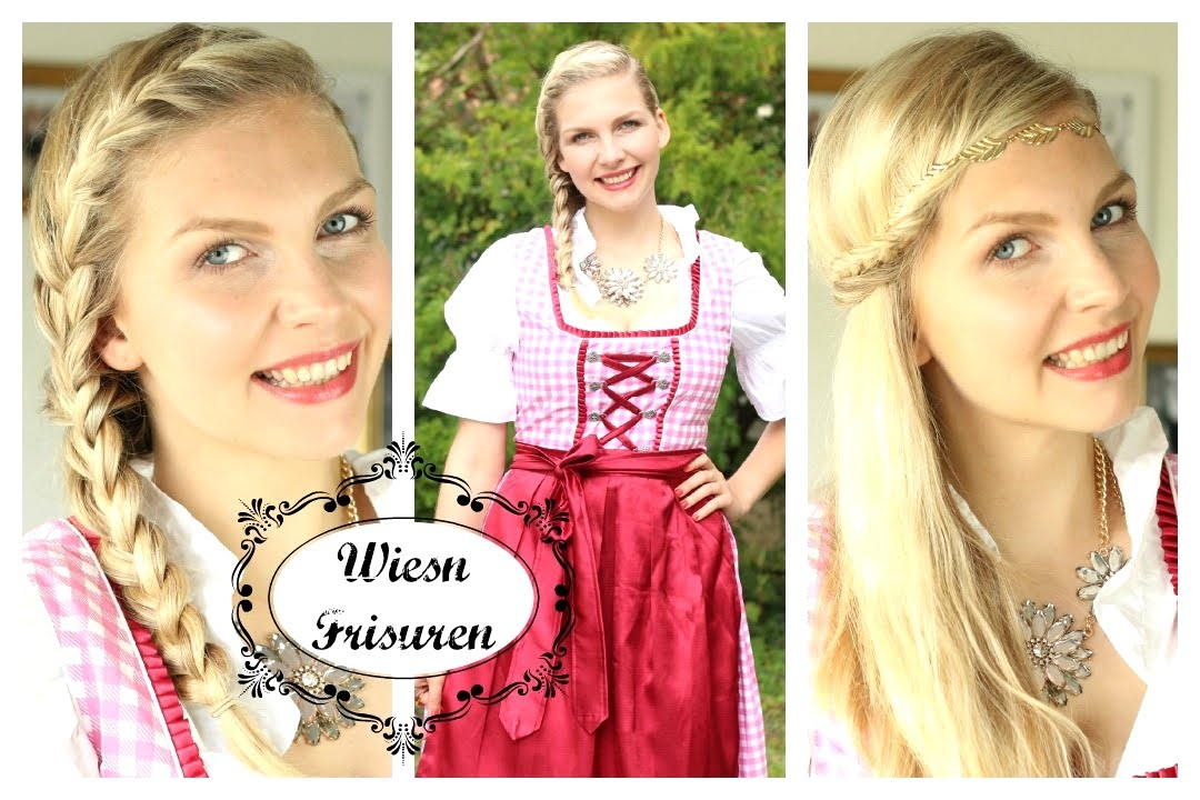 einfache oktoberfest frisuren styling jessyinseptember youtube. Black Bedroom Furniture Sets. Home Design Ideas
