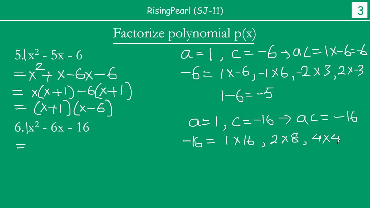 Solving problems on Middle-term Factorization (2 of 2) - YouTube