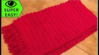 Classic Single Crochet Scarf  - Super Easy!