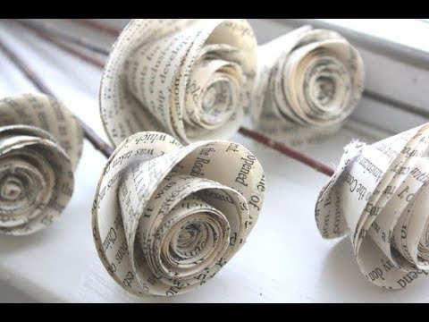 Cara membuat bunga mawar dari kertas mudah dan gampang | ide kreatif
