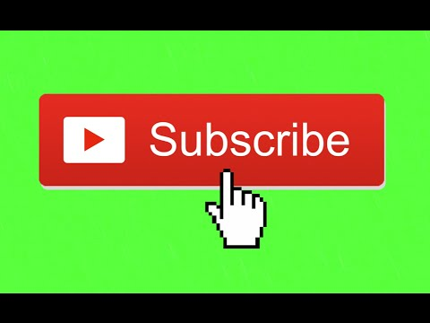 Animated Subscribe Button Green Screen Footage 1 Youtube