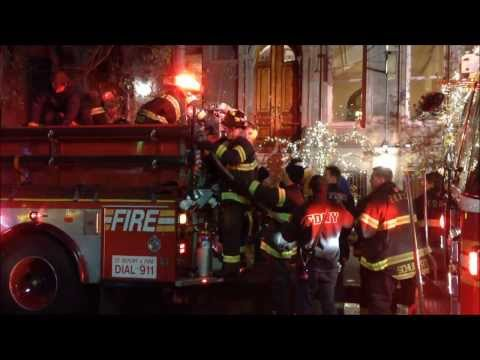 FDNY RESPONSE TO A 2 ALARM FIRE ON WEST 46TH STREET IN MIDTOWN, MANHATTAN IN NEW YORK CITY.