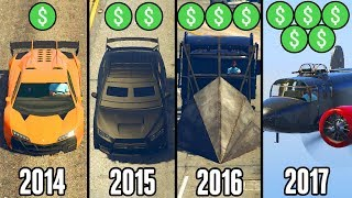 HOW PRICES IN GTA 5 ONLINE HAVE CHANGED OVER 4 YEARS! (GTA 5 Online DLC Prices Comparison)